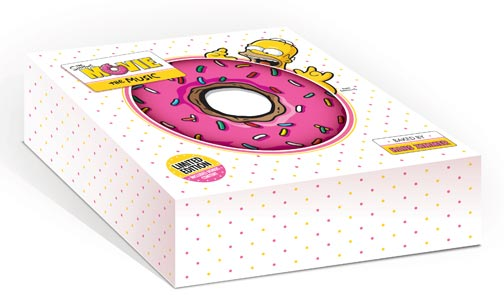 Simpsons movie soundtrack donut packaging
