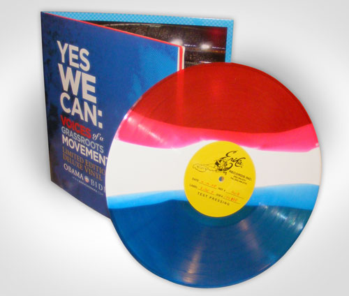 Obama Vinyl record design