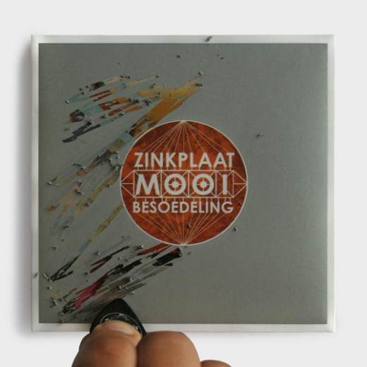 Zinkplaat creative CD packaging