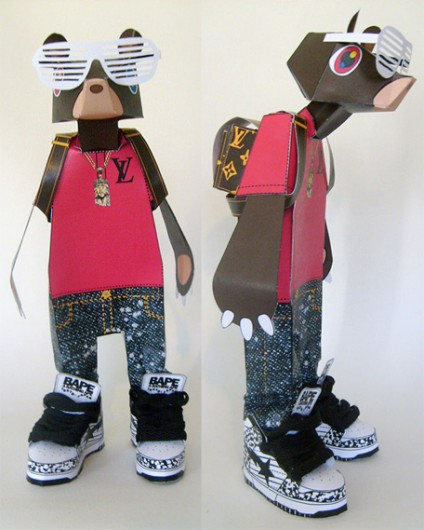 kanye west paperdoll bear merch