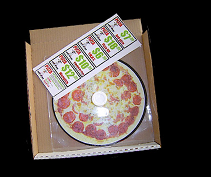CD in pizza box
