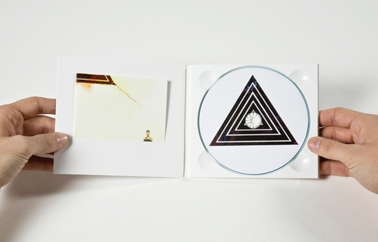 CD with minimalist artwork designs