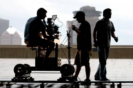 music video shoot for musicians