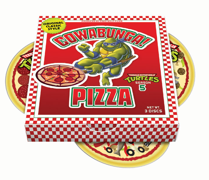 TMNT pizza box CD packaging