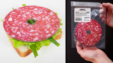 Shidlas Saliami conceptual CD salami design