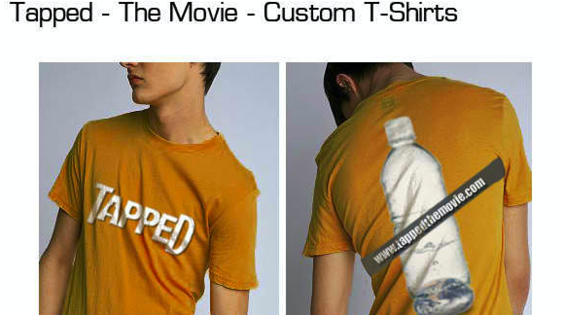 Tapped- The Movie-(front and back) custom t-shirts