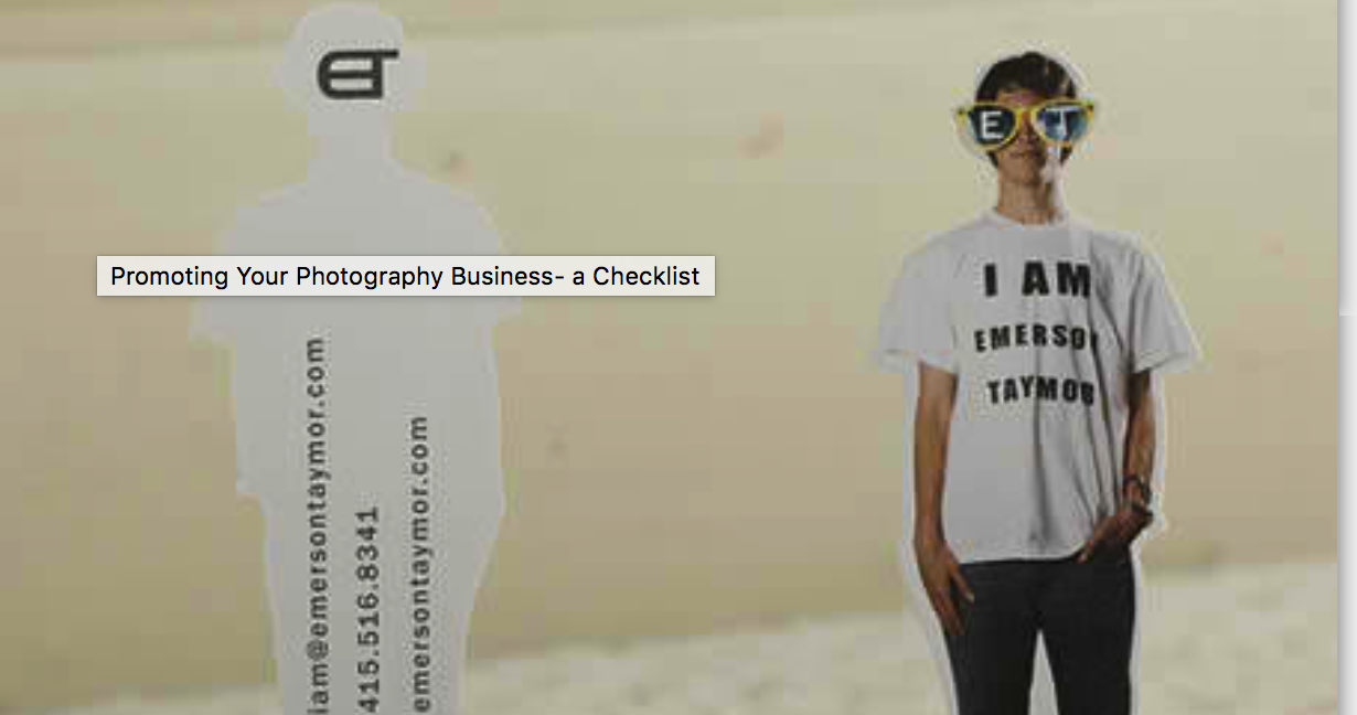 promoting photograpghy business- a checklist
