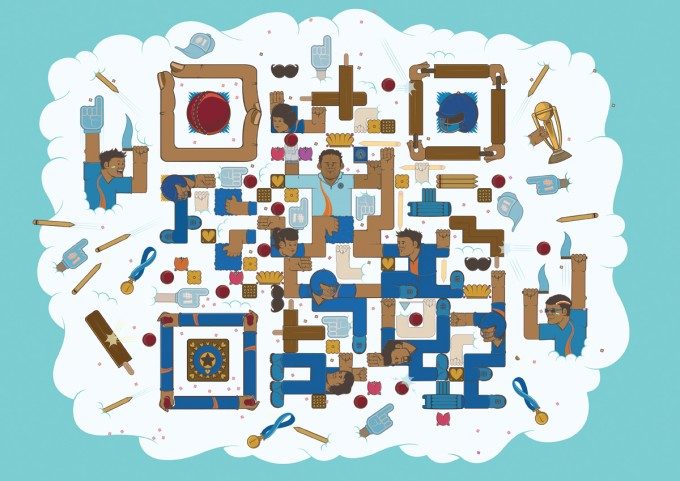 Creative QR code art design