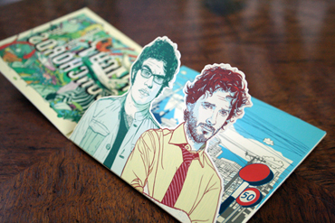 CD packaging conchords pop-up