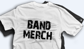 band merch t-shirt printing