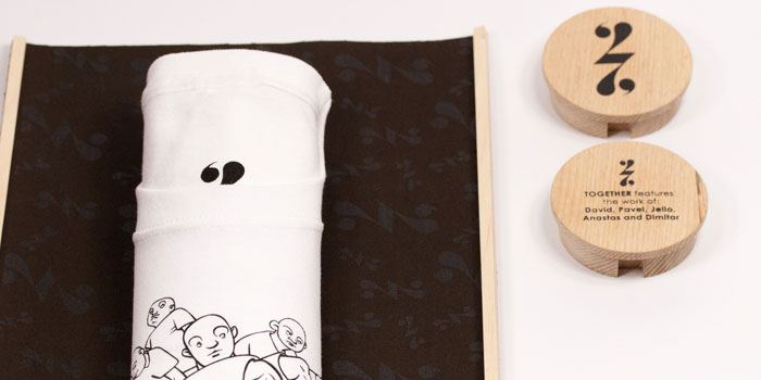 wooden tube t-shirt packaging