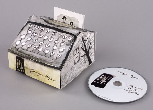 Typewriter CD packaging design