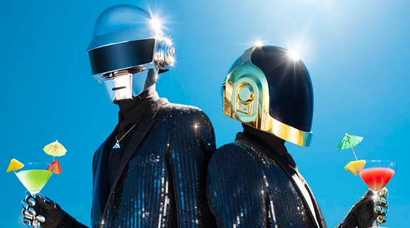 daft punk drinking martini