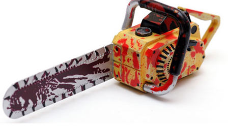 custom creative USB flash drive with chainsaw toy design