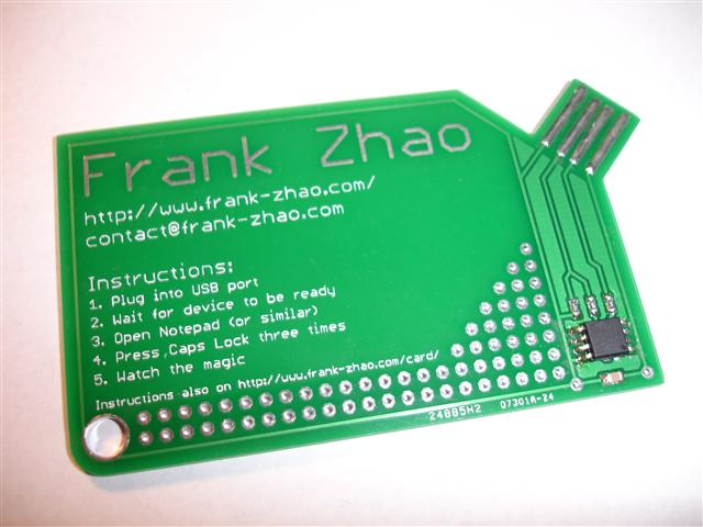 USB Business card electronic chip
