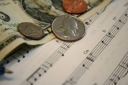 money from music