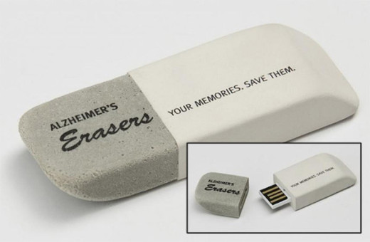 USB flash drive with eraser design