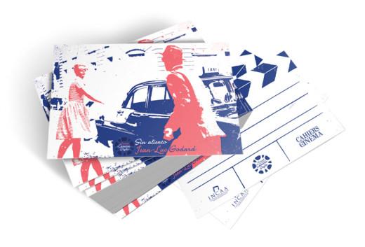 Godard film postcard