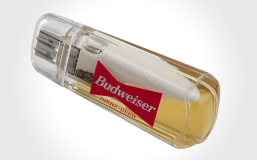 Budweiser beer USB flash drive