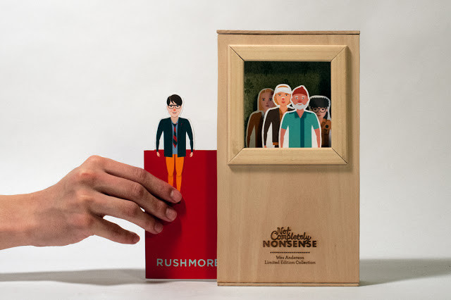 Wes Anderson Wooden DVD packaging