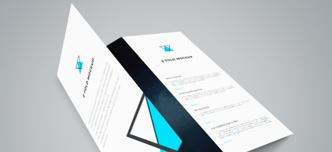 creadive graphic design minimalist brochure