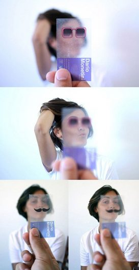 creative business card- transparent glasses