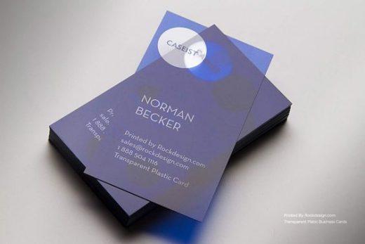 purple business card- plastic