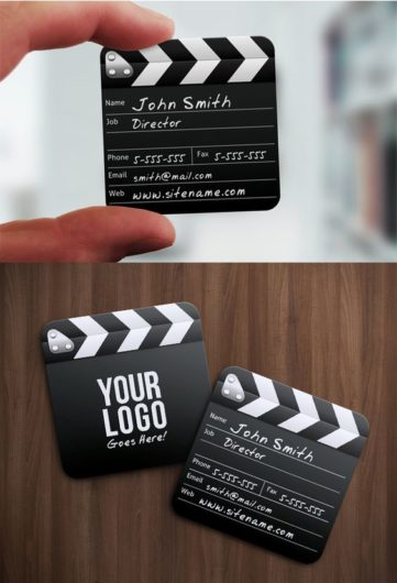 film clapper business card