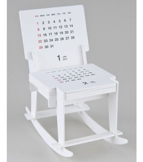 cardboard rocking chair creative calendar
