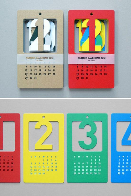 Calendar Drawing Ideas : Creative calendar designs for your christmas giveaway