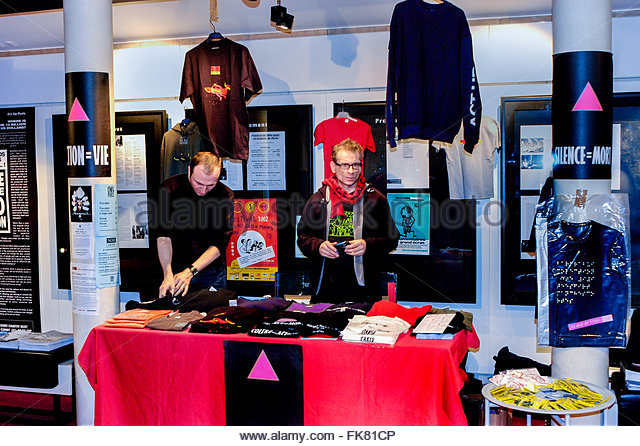 paris france aids activist selling-merchandise