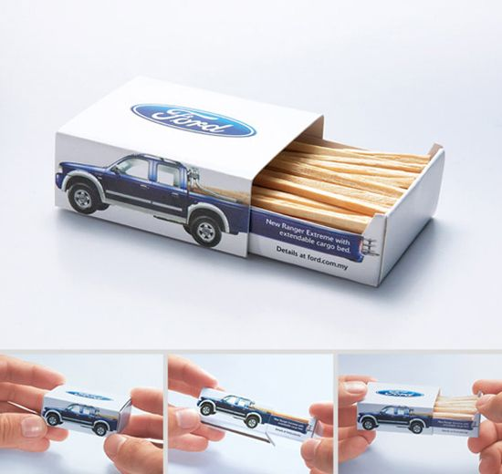 Match stick with Ford truck design