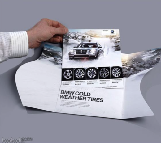 bmw tire direct mail promotion