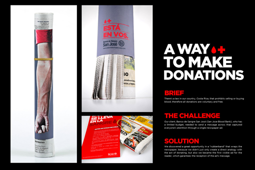 blood donation mailer