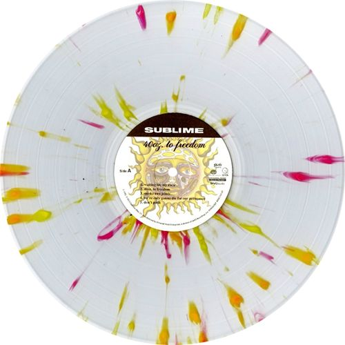 splattered vinyl- sublime