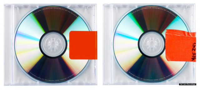 Kanye West Yeezus transparent CD jewel case