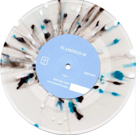 splattered vinyl- flamingo 50