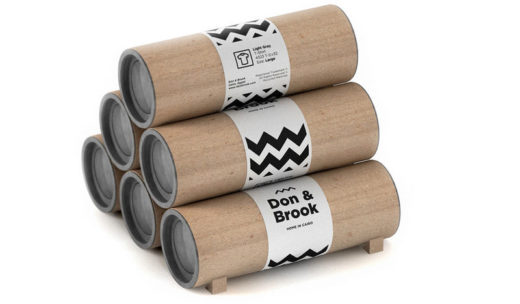 t-shirt packaging tube- wooden