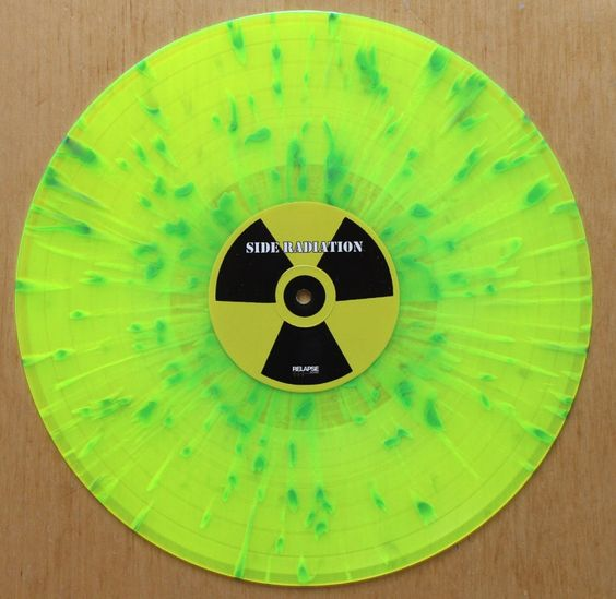 vinyl record neon color