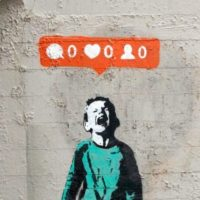 banksy art social media addiction