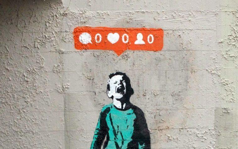 banksy art social media addiction