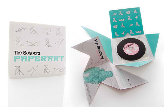 The Scissors Paperart CD packaging