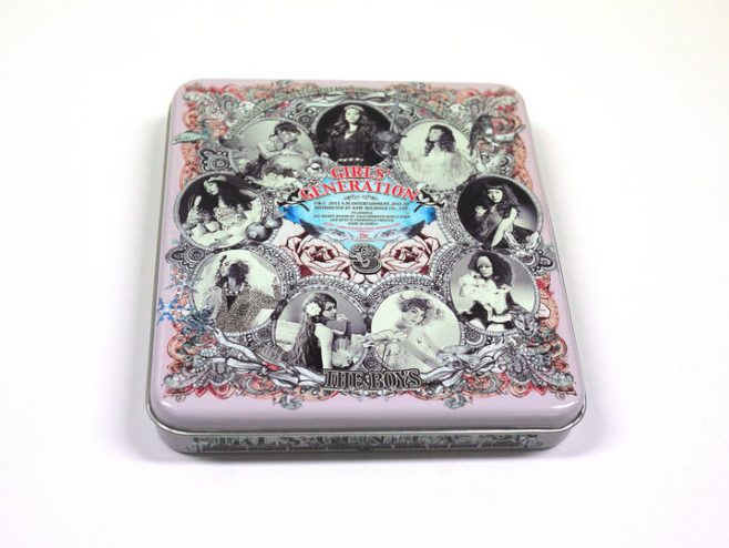 Girls Generation CD packaging tin can