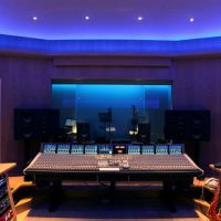 music mixing studio